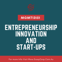 MGMT13151 - Entrepreneurship, Innovation and Start-ups Assignment